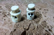 Carved bone - Control knobs