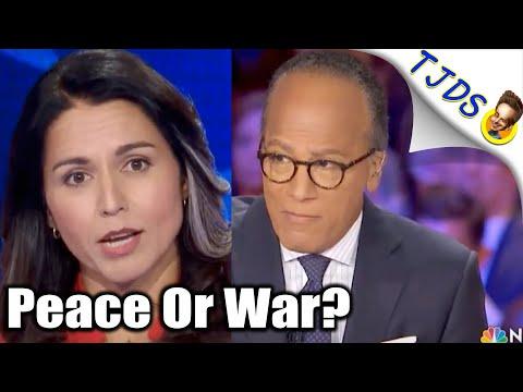 Lester Holt Begs Tulsi For Iran War