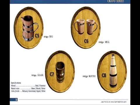 small wood barrels