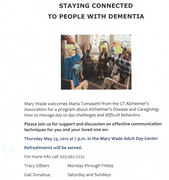 Staying connected to people with dementia
