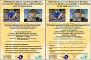 Workshop for Richmond Homeowners to Reduce Energy Bills and Increase Health and Comfort at Home