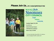 Bob Simmons Re-election Event