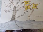 three diffrent leaves flower
