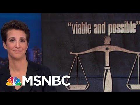 Donald Trump Creates Constitutional Crisis Rachel Maddow MSNBC