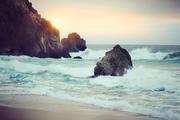 Beach and rocks SAT