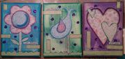 Live, Hope, Love Mixed-Media Canvas Trio
