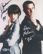 SELL-Don Adams in Silver & Barbara Feldon Get Smart Signed 8x10 from Oct. 2003 Signing BAS C71622 $119 DLVD US