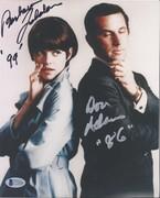 SELL-Don Adams in Silver & Barbara Feldon Get Smart Signed 8x10 from Oct. 2003 Signing BAS C71620 $119 DLVD US