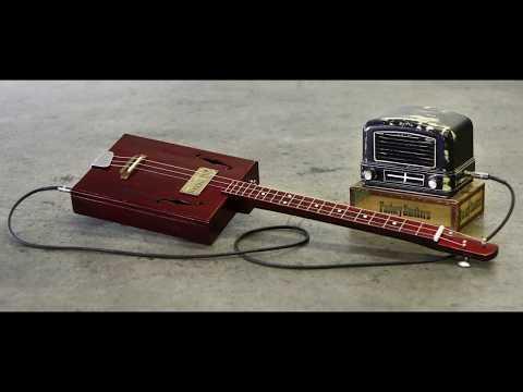 Indian Cigar Box 3 String Guitar - Vibro Blues Slide Guitar