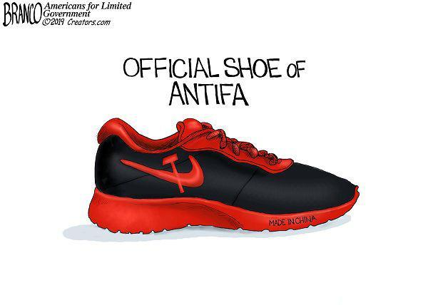 Official Shoe Of ANTIFA