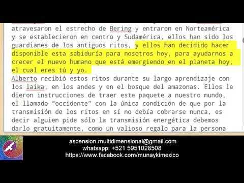 Munay Ki Profecías y Homo Luminous - traduccion Alberto Villoldo