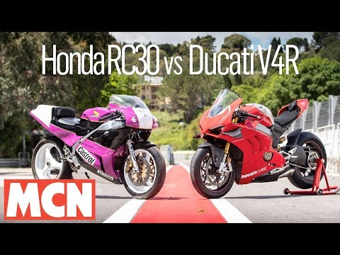 Honda RC30 vs Ducati V4R comparison | MCN | Motorcyclenews.com