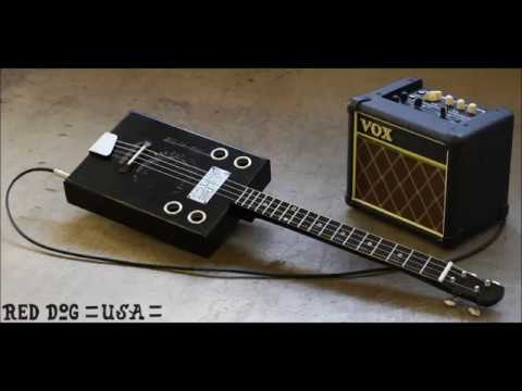 1930's style rusted out recording - 4 String Bottleneck Cigar Box Guitar