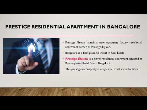 Prestige Elysian | New Premium Apartment | Prelaunch Offers | South Bangalore