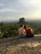On the top of a huge rock in Sri Lanka
