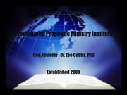 Predestined Prophetic Ministry Institute