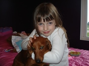 My little Brandy with here Dog Maggie