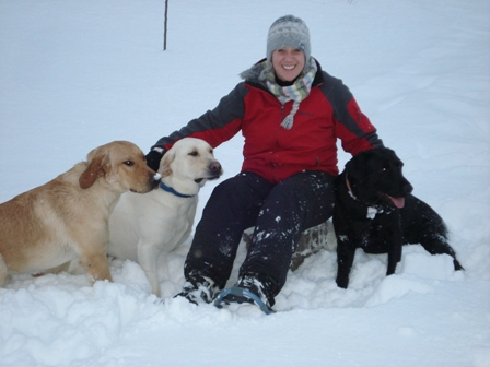 Snowshoing with the Dogs
