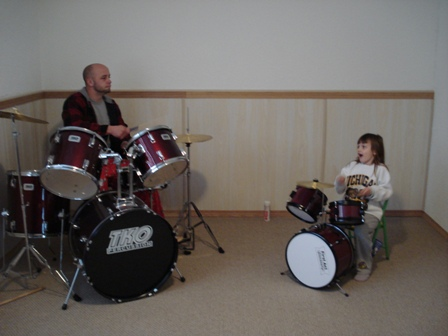 Brandy and Mike on the Drums