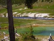 Горная река и раскаленное озеро