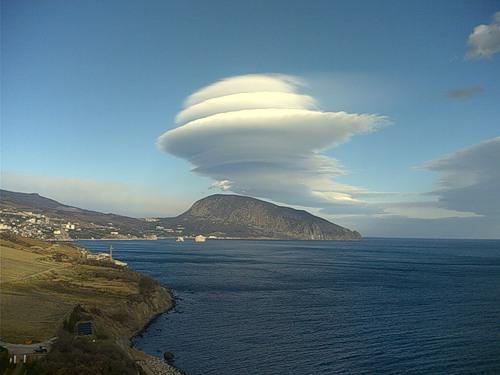 НЛО под видом облаков в Крыму