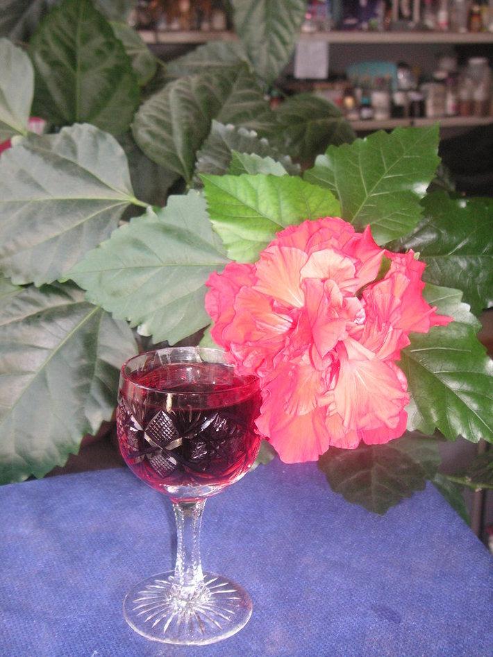 роза и гранатовый сок