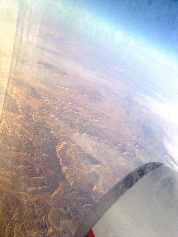 Горы Египта с борта самолета