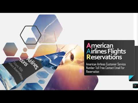 Book American Airlines Tickets from American Airlines Reservations Number
