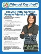 AskPatty.com Certified Female Friendly® Program