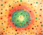 """""""Радуга"""",Холст 50х60, масло, 10.11.12 для Аделя - выздоровление, расцвет и удача в делах, радость:)"""
