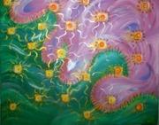 """Навстречу друг к другу"", картина для Камила и Залины, 08.09.12. Холст 50х60, акрил"
