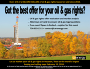 Oil and gas rights offer evaluation and market analysis