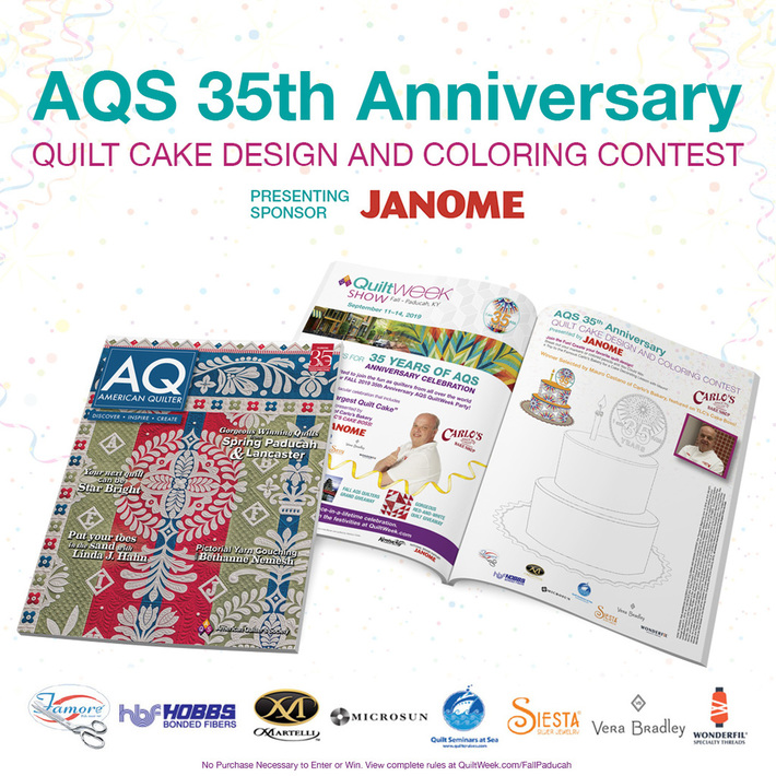 AQS 35th Anniversary Coloring Page Contest