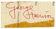 George Harrison Autograph Late 64/Early 65