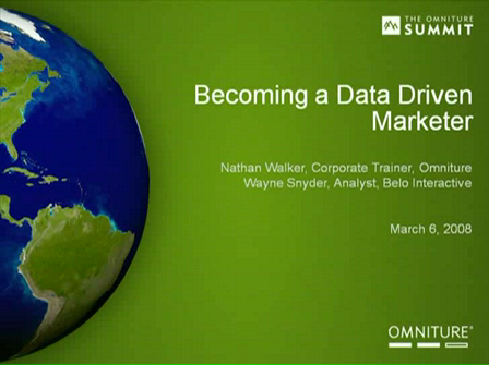 Become a Data Driven Marketing Manager