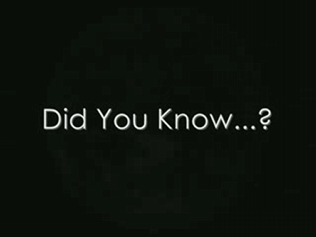 Did You Know... Facts for the future