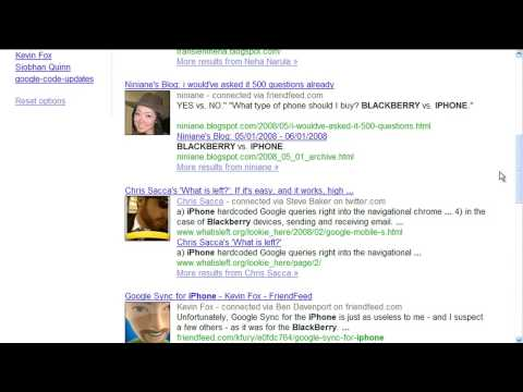 Social Search demonstration