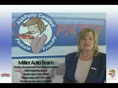 Miller Auto Team of Vestal New York is AskPatty.com Certified Female Friendly®