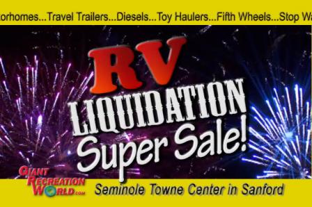 RV Liquidation Sale  Free Cruise