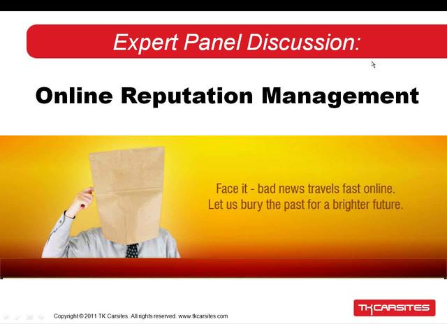 Expert Panel Discussion - Online Reputation Management
