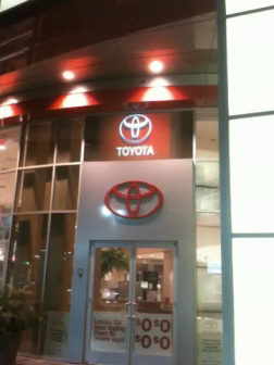 Digital Video on Dealership Window