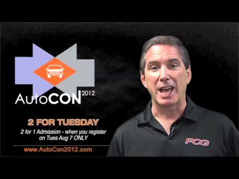 AutoCon Two For Tuesday Promotion - Promo Ends August 7, 2012