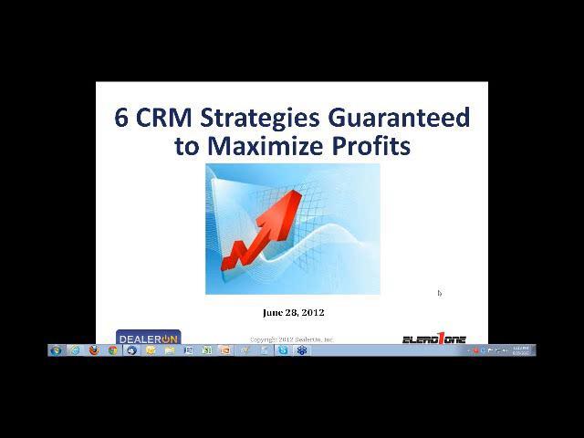 DealerOn Webinar: 6 CRM Strategies Guaranteed to Maximize Profits