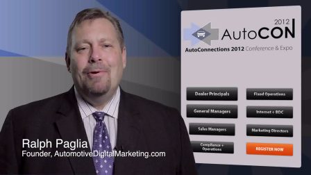 Car Dealer Marketing Workshop Track Certifications at AutoCon 2012