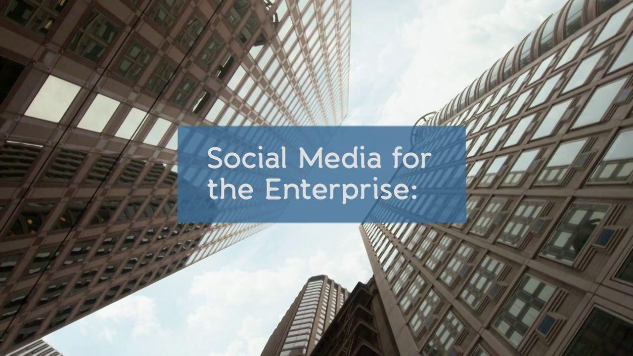 Social Media for The Enterprise: A Business Case