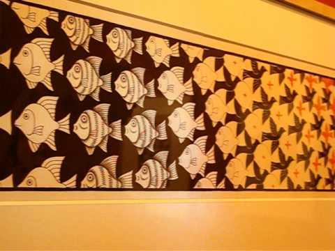 Картина Эшера - Метаморфозы