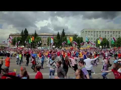 "Флэшмоб по-русски - 2. ""СИБИРСКИЙ ХОРОВОД""!!! (Russian style flash mob  from Siberia)"
