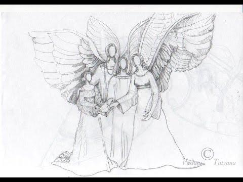 Мои рисунки. часть 5 Работа с фульгуритом, дольменами, феями. Ангельское присутствие и исцеление