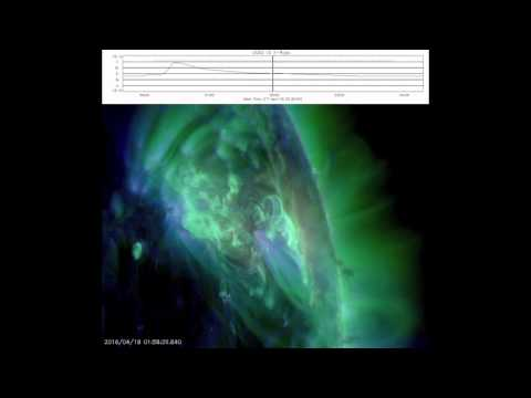 18 April 2016 - на Солнце произошла мощная вспышка М 6,7