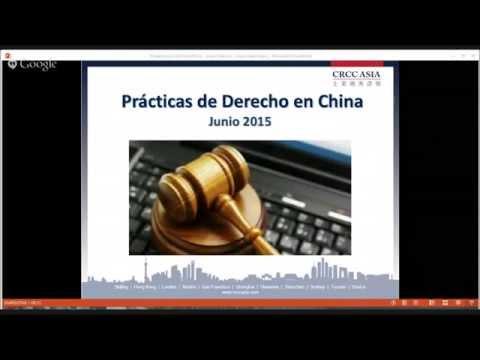 Spain Webinar Series: Prácticas de Derecho en China
